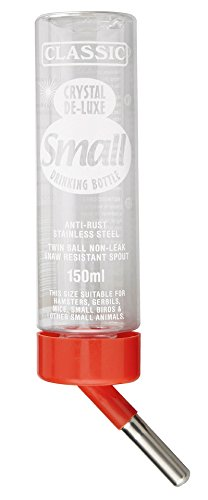 Europet Bernina 511-420706 Nagertrinkflasche Crystal Deluxe Bottle, S, circa 150 ml, transparent