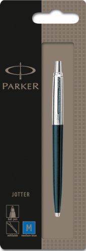 parker-jotter-black-chrome-trim-ballpoint-pen-blister-pack