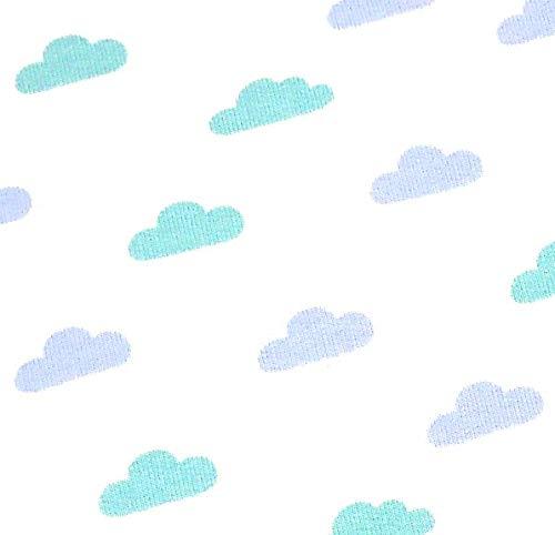Baumwolle Elasthan Terry (0,5m French Terry Wolken weiß 95% Baumwolle 5% Elasthan Meterware 140cm breit Gewicht: 200g/m2)