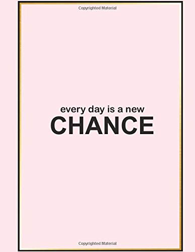 "New Chance: Grid Paper Notebook 100 pages 8.5"" x 11"" Pink Cover"