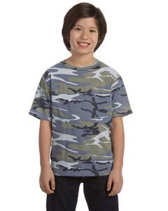 Code V Youth Camouflage Baumwolle T-Shirt Gr. Small, BLUE WOODLAND - Kids Woodland Camouflage T-shirt