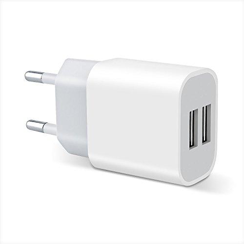 Chargeur USB, GotechoD Chargeur Secteur USB, Prise USB, Adaptateur Secteur USB 2Ports 3.1A Total(2.1A Max Chaque Port), Compatible avec Tous Les Smartphone ou Tablette iOS ou Android