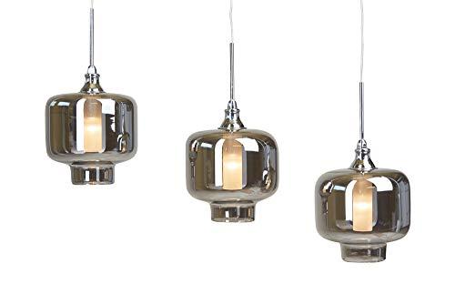 Höhenverstellbare LED HÄNGELEUCHTE VITREA lang chrom (Pendelleuchte Hängelampe Deckenlampe Pendellampe Deckenleuchte)