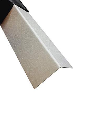 Edelstahl Treppenleiste 2000 mm 60x20 mm Kornschliff 240 V2A 0,8mm stark Blechwinkel Eckschutz Leiste,L-Schiene 200cm Edelstahl L-Blech Schenkel 6x2 cm