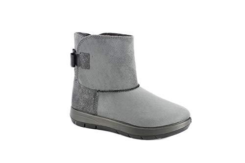 Inblu gatineau gn6m stivaletto con pelo all'interno e fiocchetto dietro boots donna invernale caldo leggero comodo flessibile e ammortizzante (39 eu, grigio)
