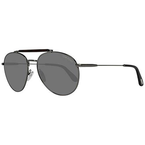 Tom Ford Für Mann 0338 Matte Gunmetal / Green Metallgestell Sonnenbrillen, 58mm