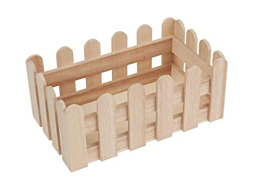 n Tischdekoration Holzkasten Zaun Serviettentechnik Frühlingsdekoration ()