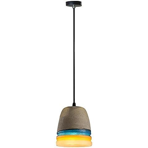 BJVB Singolo legare cemento lampada lampadario Lampada da soffitto lampada D140 * H160MM