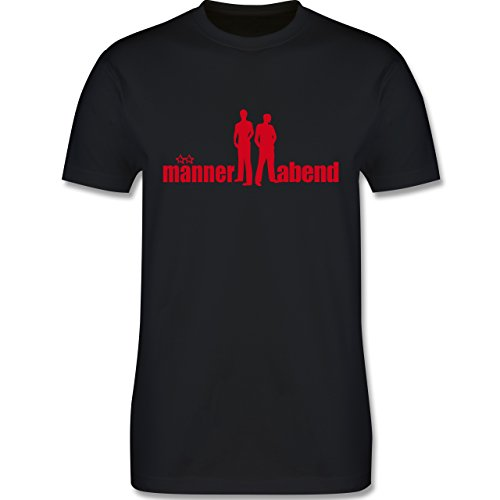 JGA Junggesellenabschied - Männerabend - Herren Premium T-Shirt Schwarz