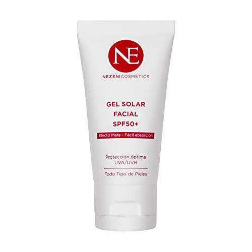 El Protector Solar de Nezeni Cosmetics cuenta con un sistema filtrante único que combina filtros químicos, físicos y biológicos, que absorben radiaciones UVA cortas y largas y UVB. Gel Solar con textura Velvet y efecto mate, con filtros solares. De t...