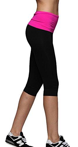 Femme Helisopus sport de taille et pantalons fitness yoga Sportswear Rose