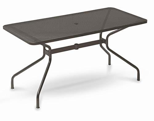 Emu Table pour extérieur Changes 160 x 80 cm Art. 809 Label Produit en Fer zingué et Verni à poussières - Couleur Fer Ancien Fantaisie 22 - Produit fabriqué en Italie