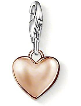 Thomas Sabo Damen-Charm-Anhänger Herz Charm Club 925 Sterling Silber 750 Roségold 0926-415-12
