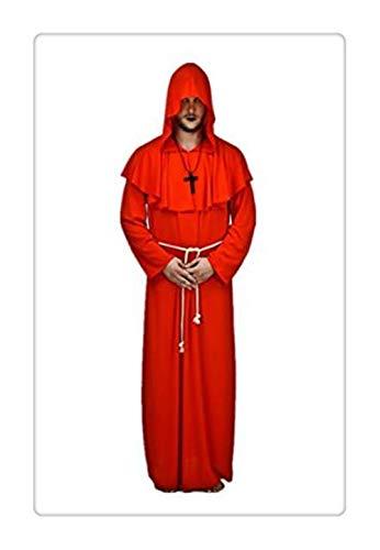 Z-one 1 Mittelalterlicher Mönch Renaissance Priester Umhang Umhang Umhang Umhang Halloween Kostüm - Maske-renaissance Kostüm Zubehör