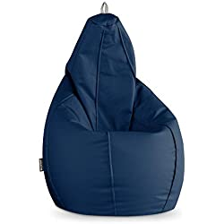 HAPPERS Puff Pera Polipiel Indoor Azul XL