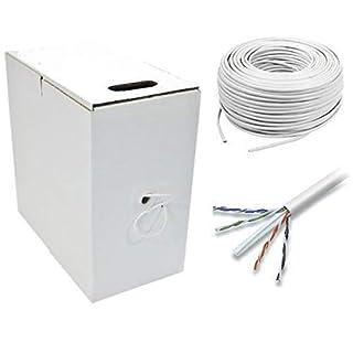 AVSL CAT6 305m Network 24AWG UTP Ethernet Cable Thick Jacket (White)