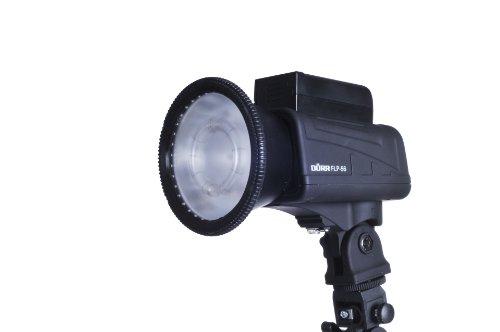 Dörr 371042 FLP 56 Blitz und LED Licht (eingebautes LED Dauerlicht, Funkauslöser, Abschirmklappen) schwarz
