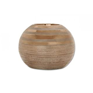 Aniba Design Teelichthalter von Becky 12, braun/gold ABKH0004-2