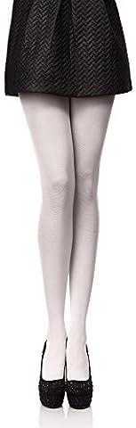 Antie 60 DEN Femmes Collant de Microfibre (Blanc, 5 (44-48))