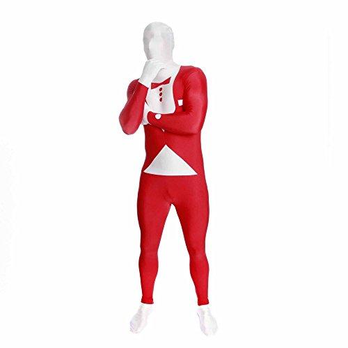 Morphsuits - Costume per Travestimento: Smoking Aderente, Adulto, Taglia: L, Colore: Rosso