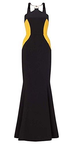 Elisa Monochrome Neck Trim Dress