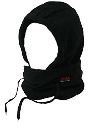 Heat Machine Black Thermal Fleece Snood Balaclava Neckwarmer 4.3 tog
