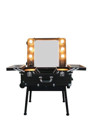 Check in Coiffeuse avec éclairage pliable sous forme de valise