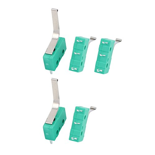 uxcell AC250/125V 3Amp 3Terminal Momentary 20mm Hebel Arm Micro Switch Grün KW12–91S, KW12-91S 3A 5pcs, - Mikroschalter Endschalter