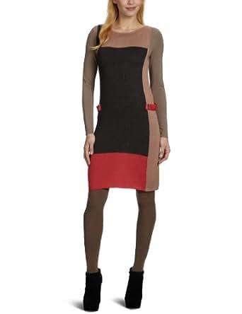 ck Calvin Klein Damen Kleid (mini), KWW443M1F04, Gr. 34 (XS) (40 IT), Rot (C94)