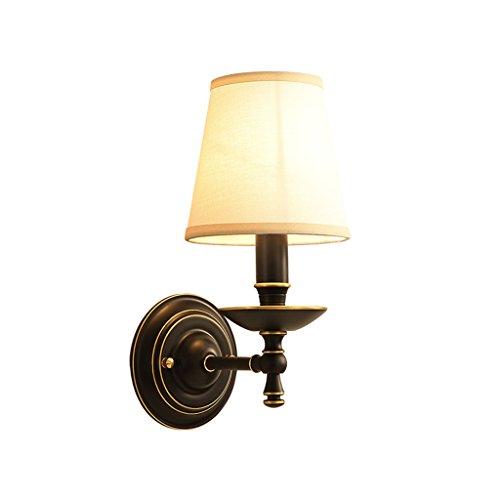 CS Alle Kupfer Wandleuchte Zimmer Licht einfache nordischen Stil Lampe Tuch Lampe Schatten E14 Lampe Kopf -