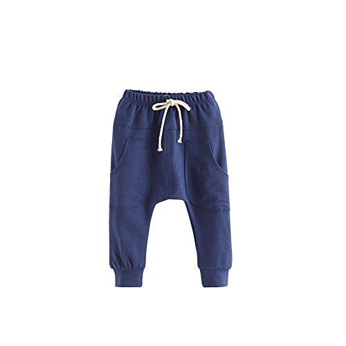 Minuya Kind Baumwolle Babyhose Freizeithose Jungen Mädchen Elastischer Bund Haremshose Trainingshose Jogginghose Sporthose 2-7 Jahre