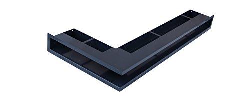 Lüftungsgitter Luftleiste Eckluftleiste Kamin weiss schwarz (765 x 75 x 365 mm rechtwinklig, Anthrazit)