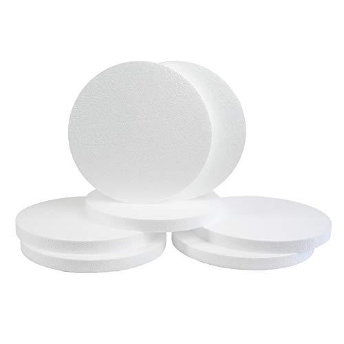 Silverlake Schaumstoffscheiben - 7 Stück 30,5 x 2,5 cm EPS Polystyrol-Kreise zum Basteln, Modellieren, Kunstprojekte und Blumengestecke - Skulptur Blätter für DIY Schule und Home Art Projekte 7pack -