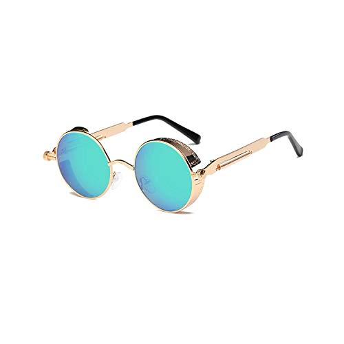 Sportbrillen, Angeln Golfbrille,Metal Round Steampunk Sunglasses Men Women Fashion Glasses Brand Designer Retro Frame Vintage Sunglasses High Quality UV400 5