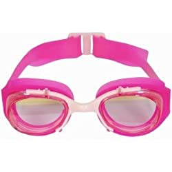 Nabaji Lunettes de natation anti buée enfant Protection UV 100 % Rosa / Pink