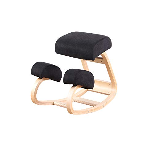 Silla ergonómica de Rodilla Equilibrio Taburete de Madera para Oficina en casa...