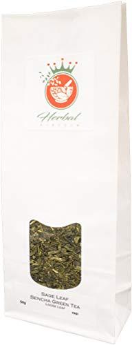 Salbei und Sencha grüner Tee Loser Tee (50g packung) - Salbei Grüner Farbstoff