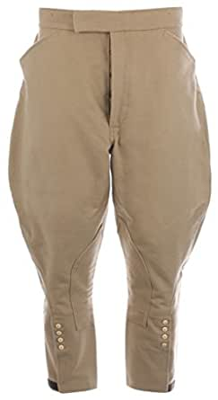 Cudworth Of Norden Traditional Cut Moleskin Hunting Breeches, Color: Fawn Moleskin, UK Size: 38 Regular