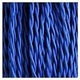 Câble électrique torsadé 3 fils torsadés 3 fils torsadés de haute qualité 10 m, Tissu, bleu, 3 Core Twisted 10M, vintage cable