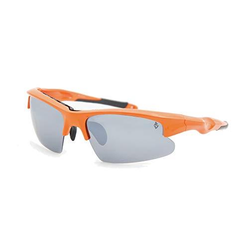 YISHIOR Sonnenbrillen für Herren und Damen, Polarisierte Flach- / Nachtsichtbrillen Sportbrillen Angeln Golf/Angeln/Radfahren/Laufbrillen,Vibrantorange