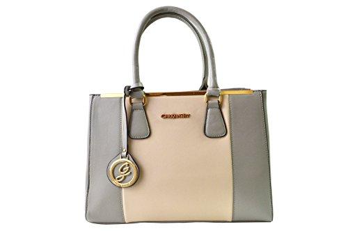 Gallantry- bolso de mano para mujer tamaño mediano con correa - para Tablet de 10', Negro (gris y beige), Medium/Moyenne