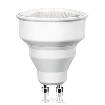 Gu10 Energiesparlampe In Reflektorform Von Parlat 230 Volt Ac R50 80 Abstrahlwinkel Warmwei 6 Watt Entspricht 20w Glhlampe Mini 1 Stck Packung von LEDs Com GmbH