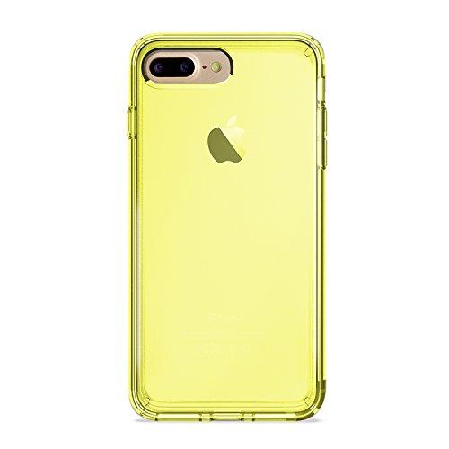 Puro Back Case Ultra Slim 0.3 Schutzhülle (für Apple iPhone 7+) Transparent neongelb