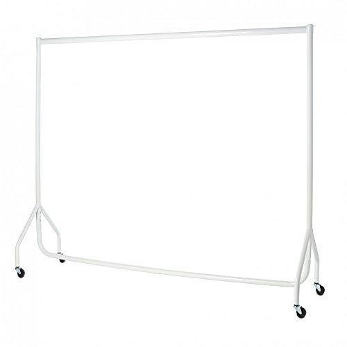 Stand appendiabiti resistente, bianco, 1,8m di lunghezza x 1,5m di altezza, telaio di acciaio da 32 mm