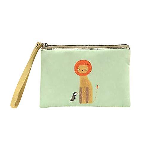 Bfmyxgs stilvolle Handtasche für Frauen Mädchen Bargeld Geldbörse Make-up Tasche niedlich Canvas Handytasche mit Griff Brieftasche Tasche Geldbörse Handtasche