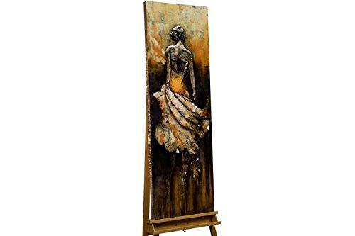 KunstLoft Extravagantes Metallbild 3D 'Queen of Honor' 50x150x7cm | Design Wanddeko XXL handgefertigt | Unikat Wandskulptur | Frau Jacke Mensch Gehen | Wandbild Relief modern (Jacke Gehen)