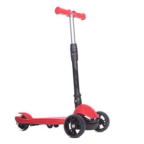 Monopattino Bicicletta Equilibrio Bicicletta per Bambini E Biciclette da Auto Pieghevole per Yo per Bambini con Ruote A 3 Ruote per Bambini LCSHAN (Color : Red)