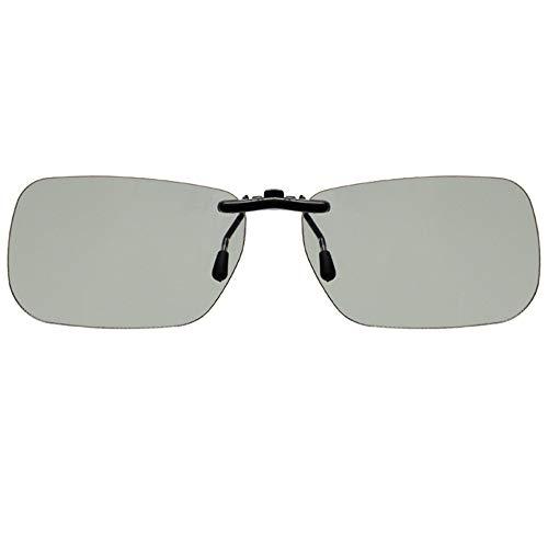 Ogquaton 1 Stücke Unisex Clip-on 3D Brille Prescription Eyewear für TV Projektor Kino und Bars für Kurzsichtigkeit - Universal-projektor-3d-brille