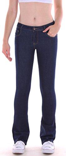 Bootcut-denim-hosen (Damen Bootcut Jeans Hose, Hüftjeans, Schlagjeans in blau Damenjeans Damenhose Bootcutjeans Bootcuthose Schlag Schlaghose Weites Bein Hüfthose Hüft Hüftig Lowrise Low Rise Sieze Gr Größe L 40)