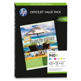 Original HP Value-Pack No.940XL C/M/Y + 100 Blatt A4-Papier 180g/m² -